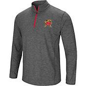 Colosseum Men's Maryland Terrapins Grey Action Pass Quarter-Zip Shirt