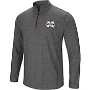 Colosseum Men's Mississippi State Bulldogs Grey Action Pass Quarter-Zip Shirt