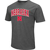 Colosseum Men's Nebraska Cornhuskers Grey Dual Blend T-Shirt