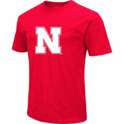 Colosseum Men's Nebraska Cornhuskers Scarlet Dual Blend T-Shirt