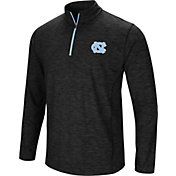 Colosseum Men's North Carolina Tar Heels Black Action Pass Quarter-Zip Shirt