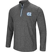 Colosseum Men's North Carolina Tar Heels Grey Action Pass Quarter-Zip Shirt