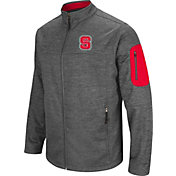 Colosseum Men's NC State Wolfpack Grey Anchor Full-Zip Jacket