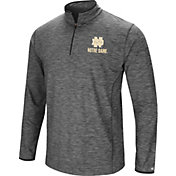 Colosseum Men's Notre Dame Fighting Irish Grey Action Pass Quarter-Zip Shirt