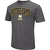 Colosseum Men's Notre Dame Fighting Irish Grey Dual Blend T-Shirt