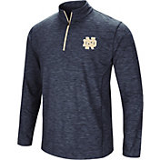 Colosseum Men's Notre Dame Fighting Irish Navy Action Pass Quarter-Zip Shirt