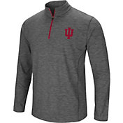 Colosseum Men's Indiana Hoosiers Grey Action Pass Quarter-Zip Shirt