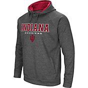 Colosseum Athletics Men's Indiana Hoosiers Grey Fleece Hoodie
