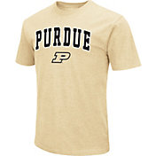 Colosseum Men's Purdue Boilermakers Old Gold Dual Blend T-Shirt