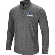 Colosseum Men's Penn State Nittany Lions Grey Action Pass Quarter-Zip Shirt