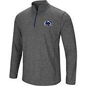 Colosseum Men's Penn State Nittany Lions Grey Action Pass Quarter-Zip Shirt