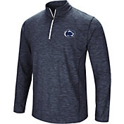 Colosseum Men's Penn State Nittany Lions Blue Action Pass Quarter-Zip Shirt