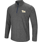 Colosseum Men's Pitt Panthers Grey Action Pass Quarter-Zip Shirt