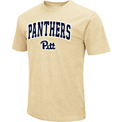 Colosseum Men's Pitt Panthers Gold Dual Blend T-Shirt