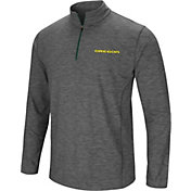 Colosseum Men's Oregon Ducks Grey Action Pass Quarter-Zip Shirt