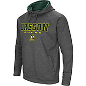 Colosseum Men's Oregon Ducks Grey Fleece Hoodie
