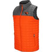 Colosseum Men's Oregon State Beavers Orange/Grey Amplitude Puff Vest