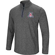 Colosseum Men's Arizona Wildcats Grey Action Pass Quarter-Zip Shirt