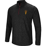 Colosseum Men's Arizona State Sun Devils Black Action Pass Quarter-Zip Shirt