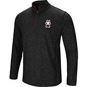 Colosseum Athletics Men's Southern Illinois  Salukis Action Pass Quarter-Zip Black Shirt