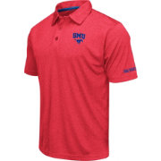 Colosseum Men's Southern Methodist Mustangs Red Axis Polo
