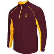 Colosseum Men's Arizona State Sun Devils Maroon Airstream Quarter-Zip