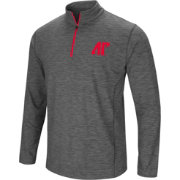 Colosseum Men's Austin Peay Governors Grey Action Pass Quarter-Zip Shirt