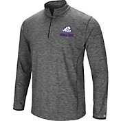 Colosseum Men's TCU Horned Frogs Grey Action Pass Quarter-Zip Shirt