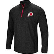 Colosseum Athletics Men's Utah Utes Action Pass Quarter-Zip Black Shirt