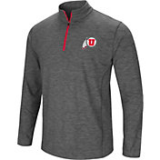 Colosseum Men's Utah Utes Grey Action Pass Quarter-Zip Shirt