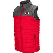 Colosseum Men's Utah Utes Crimson/Grey Amplitude Puff Vest