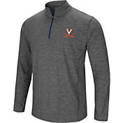 Colosseum Men's Virginia Cavaliers Grey Action Pass Quarter-Zip Shirt