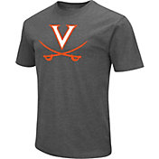 Colosseum Men's Virginia Cavaliers Grey Dual Blend T-Shirt