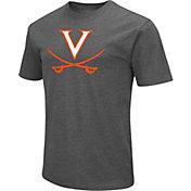 Colosseum Men's Virginia Cavaliers Grey Dual Blend T-Shirt