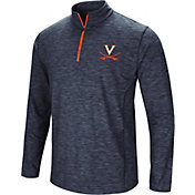 Colosseum Men's Virginia Cavaliers Blue Action Pass Quarter-Zip Shirt