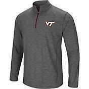 Colosseum Men's Virginia Tech Hokies Grey Action Pass Quarter-Zip Shirt