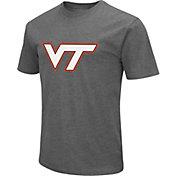 Colosseum Men's Virginia Tech Hokies Grey Dual Blend T-Shirt