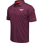 Colosseum Men's Virginia Tech Hokies Maroon Axis Polo