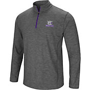 Colosseum Men's Weber State Wildcats Grey Action Pass Quarter-Zip Shirt