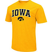 Colosseum Men's Iowa Hawkeyes Gold Dual Blend T-Shirt