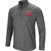 Colosseum Men's Wisconsin Badgers Grey Action Pass Quarter-Zip Shirt