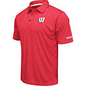 Colosseum Men's Wisconsin Badgers Red Axis Polo