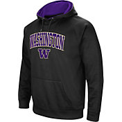 Colosseum Men's Washington Huskies Black Performance Hoodie