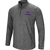 Colosseum Men's Washington Huskies Grey Action Pass Quarter-Zip Shirt