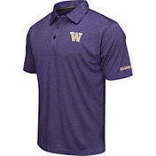Colosseum Men's Washington Huskies Purple Axis Polo