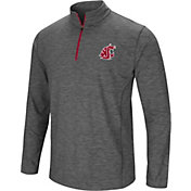 Colosseum Men's Washington State Cougars Grey Action Pass Quarter-Zip Shirt