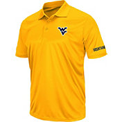 Colosseum Men's West Virginia Mountaineers Gold Stance Polo