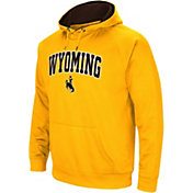 Colosseum Men's Wyoming Cowboys Gold Performance Hoodie