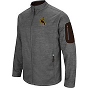Colosseum Men's Wyoming Cowboys Grey Anchor Full-Zip Jacket