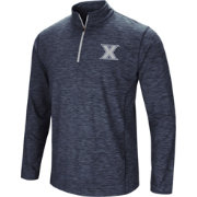 Colosseum Athletics Men's Xavier Musketeers Navy Action Pass Quarter-Zip Shirt